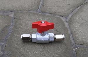 Кран запорный шаровый 78атм (1150psi) 3/8 Tecnocooling, для систем высокого давления